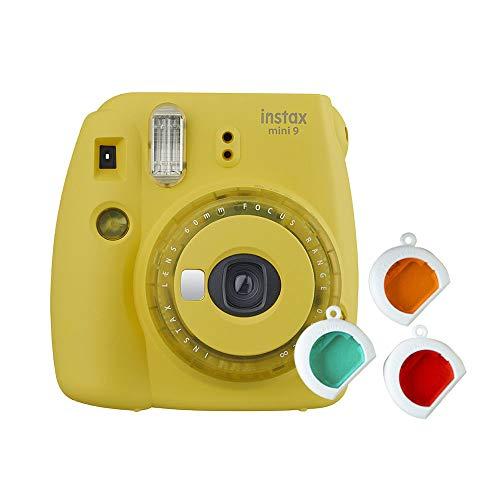 Fujifilm Instax Mini 9 - Cámara instantanea, solo cámara, Amarillo