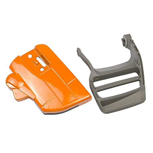 #N/a Kit de protección de mano de embrague de freno duradero, apto para Husqvarna 340 345 350 motosierra piezas, Parte #537107801, naranja