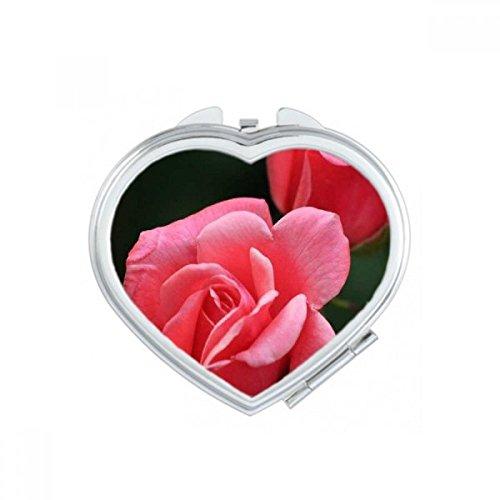 DIYthinker Rose Dim Blanc Fleurs de Coeur de Maquillage Compact Miroir de Poche Portable Mignon Petit Cadeau Miroirs Main Multicolor