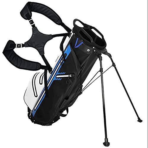 ZQYR Conveniente, Bolsa de separación portátil Holeultralight Golf Bag con Soporte, Base Estable, Fuerte Estabilidad y Durabilidad 424 (Color : Black Blue)