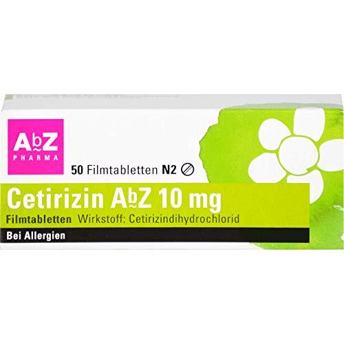 Cetirizin AbZ 10 mg Filmtabletten bei Allergien, 50 St. Tabletten