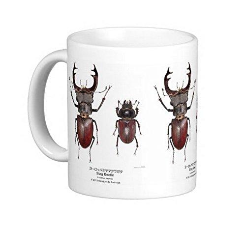 ヨーロッパミヤマクワガタのマグカップ:フォトマグ(世界の昆虫シリーズ)