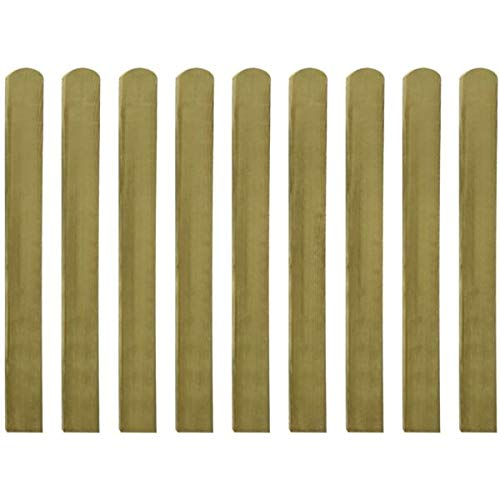 Festnight- Zaunlatte Zaunlatten Gartenzaun Impr/ägniertes Kiefernholz 20 STK 9 x 60//80// 100//120// 140 cm Zaunbrett Holzzaun Bretter Zaunbretter Balkonbretter
