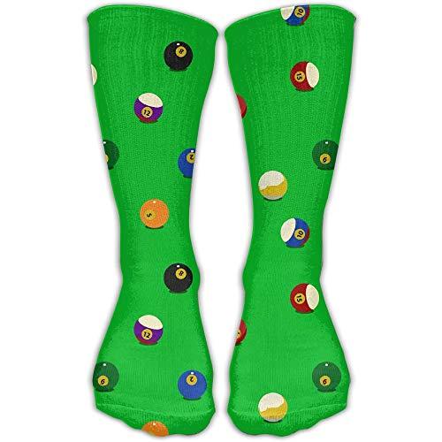 Tyueu Color Billiards Balls Unisex Athletic Breathable Socks Ankle Socks Casual Sport 30cm Socks Lange Socken