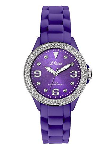 s.Oliver Damen-Armbanduhr XS Analog Silikon SO-2449-PQ