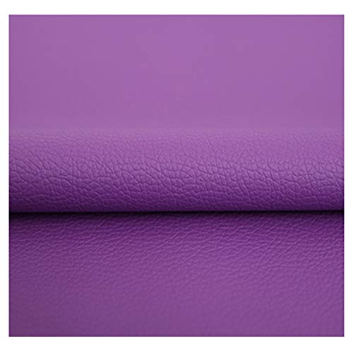 ZHIHEHE Hojas De Piel Sintética Tela por Medio Metros De Polipiel para Tapizar, Manualidades (50cm× 138cm)-Púrpura 1.38×50m