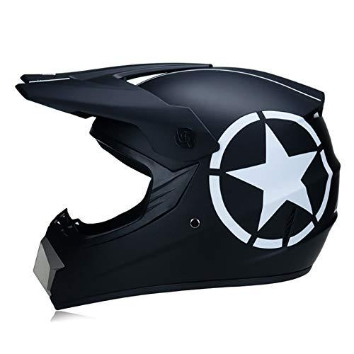 FANGJIA-Helmet Casco Motocross con Gafas Máscara Guantes, Dot Homologado Casco de Moto Cross Integral Enduro para Mujer Hombre Adultos