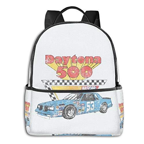 10sdaklasd Nascar Vintage Daytona 500 Laptop Backpack Fashion Theme School Backpackblack Side Backpack