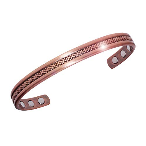 Pure Copper Magnetic Therapy Bracelet for Arthritis, Rheumatoid Arthritis, RSI, Migraines and Fatigue