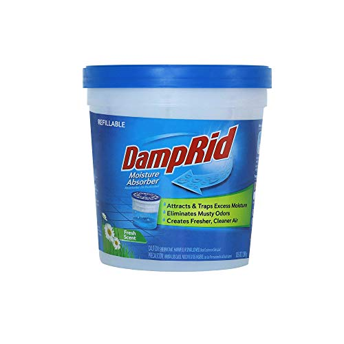 DampRid Fresh Scent Refillable Moisture Absorber - 10.5oz cup – Traps Moisture for Fresher, Cleaner Air