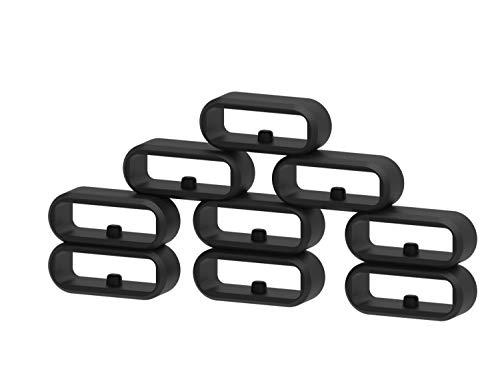 Ruentech Kompatibel mit Garmin Vivomove/Vivomove HR/Vivoactive 3 / Forerunner 645 / Forerunner 645 Music Armband Silikon Verschluss Ring Loop Hoop Clasp Zubehör (11pcs)