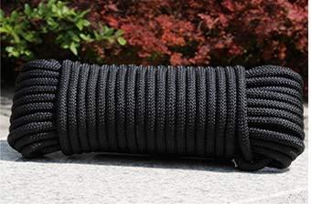 KUQIQI 550 Fallschirm-Schnur Lanyard Seil Typ III 7 Strang DIY Armband Zubehör 8mm 10 Meter (Farbe : Schwarz)