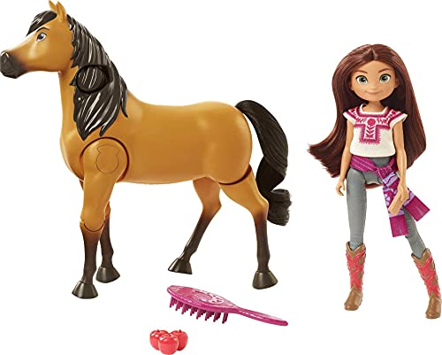 Spirit Untamed Ride Together Lucky Doll (7-in) & Spirit Horse (8-in), Button Feature Lets Doll Ride Horse with Realistic Walking & Moving Joints, Great Gift for Ages 3 Years Old & Up