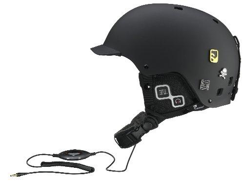 Salomon Brigade Audio Ski Helmet (Black Matt, XX-Large)