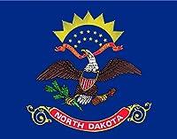 24インチのノースダコタ国旗。 マグネットビニール製車用冷蔵庫は、あらゆる金属面に貼り付きます。