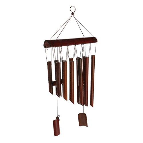 Homyl Bambus Windspiel Feng Shui mit Klangröhren, perfekt Weihanchten Geschenk für China Kultur Liebhaber - 65cm