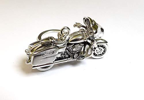 Moto Llavero de Plata del Ley 925, Miniaturas de Moto, Regalo para Motero, Coleccionismo, Sterling Silver Motorbyke Keyring