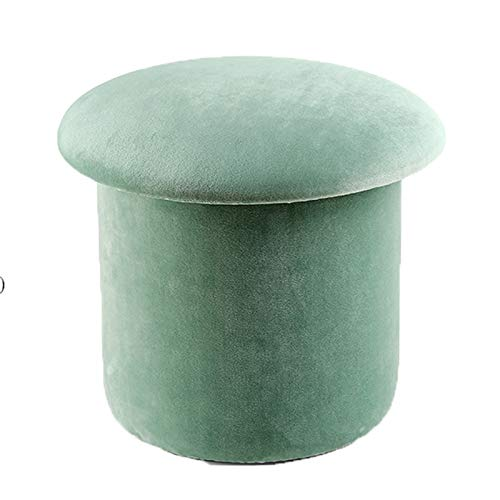 NNHDWS Velvet Stools, Household Storage Stools, Living Room Coffee Table Sofa Stools, Round Stools, Storage Boxes, Shoe Changing Stools in Clothing Stores,malachite green,L