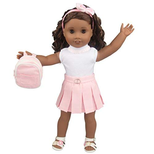 Casual School Doll Outfit for Ameri…