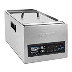 Built for sous vide cooking and re-thermalizing 5 reprogrammable memory settings Circulates 6 liters of water per minute Temperature range 95&deg F (35&deg C) to 194&deg F (90&deg C) Model &num WSV25