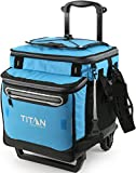 Arctic Zone Titan Deep Freeze 60 (50+10) Can Collapsible Rolling Cooler with All-Terrain Cart, Process Blue (5-21580-30-0E)