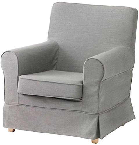 The Ektorp Jennylund Cover Replacement is Custom Made Compatible for IKEA Jennylund Chair. an Armchair Sofa Slipcover Replacement (Cotton Light Gray)