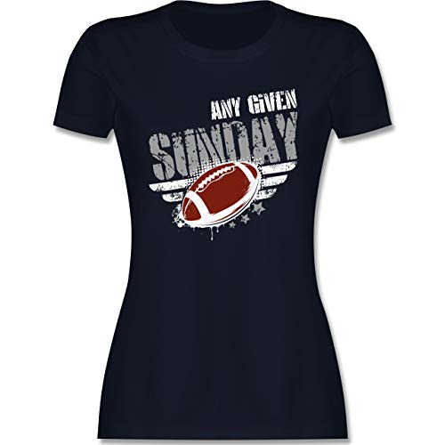 American Football - Any Given Sunday Football - L - Navy Blau - Football - L191 - Tailliertes Tshirt für Damen und Frauen T-Shirt