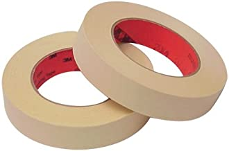 Scotch High Performance Masking Tape 214 Tan, 1 in x 60 yd (Case of 36)