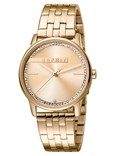 Esprit Damen Analog Quarz Uhr mit Edelstahl Armband ES1L082M0055