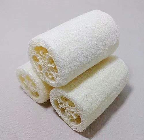 HANBIN Laveur d'éponge de douche Loofah Natural Bath-2pcs White 2pcs