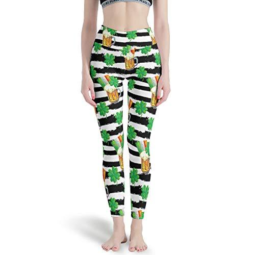 NeiBangM Skinny Slim Fit Yoga Leggings Damen St Patrick's Day Frauenhose für Yoga White s