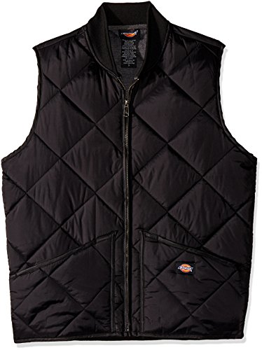 Dickies Men's Diamond Quilted Nylon Vest, Black, 2X