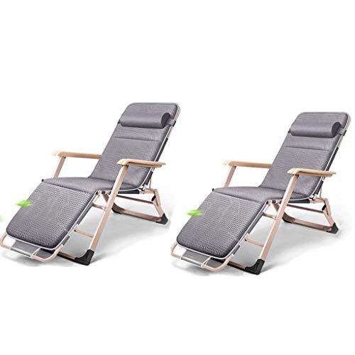 Haushaltsprodukte Sun Lounger Klappbare Gartenstühle 2er-Set Klappbarer Liegestuhl Teslin Stoff-Bettstuhl mit doppeltem Verwendungszweck Garten-Terrassenstuhl für Büro-Recliner Zero Gravity-Stühle