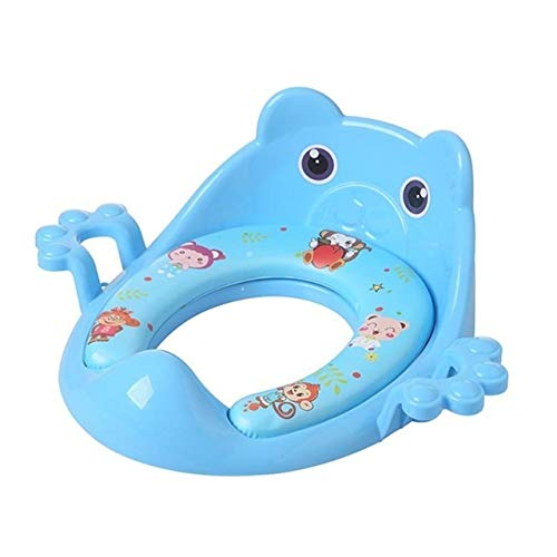 Reductor de WC para Bebé Formadores de dibujos animados bebé for ir al baño WC cojín de asiento con apoyabrazos portátil recorrido infantil al aire libre Niños Entrenamiento del retrete anillo del coj