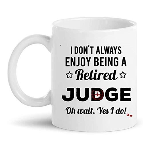 Regalo de jubilación para el juez retirado mejor taza de café Copa Ley jueces Regalo de la camiseta   Abogado Fiscal Asistente Legal Facultad de Derecho jubile Retirándose regalos Hombres Mujeres