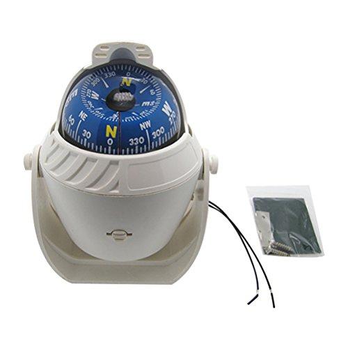 Odowalker Electronic LED Light Marine Digital Compass Suitable