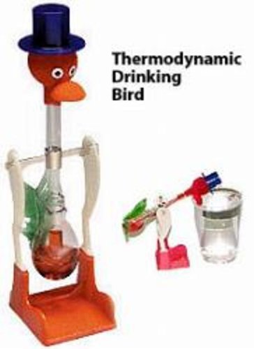 WARM FUZZY TOYS Drinking Bird Colors Vary by