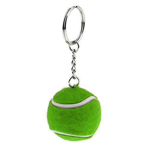 Keychain Taschenanhänger Bälle Metall Anhänger Schlüsselbund Auto Keys Damen Herren Tasche Deko Anhänger Schlüsselanhänger - Grün Tennisball