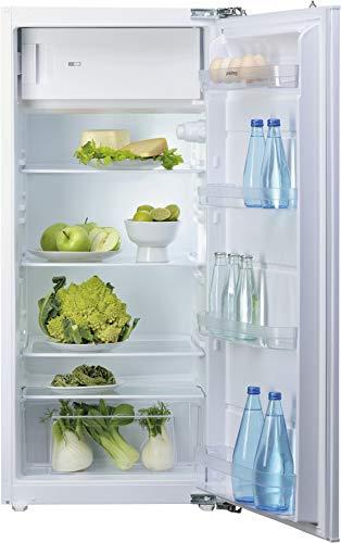Privileg PRFI 336 Einbau-Kühlschrank mit Gefrierfach / 183 L Nutzinhalt/LED-Licht/Einfache Festtürmontage (Nische 122 cm), weiß