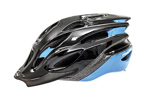 Raleigh Unisex Black/Blue Mountain Bike Cycling Helmet 54-58 cm