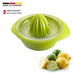 Westmark Presse à citron/agrumes avec récipient, diamètre: 18,7 cm, capacité: 0,5 litre, plastique, limetta, vert pomme, 3091227A