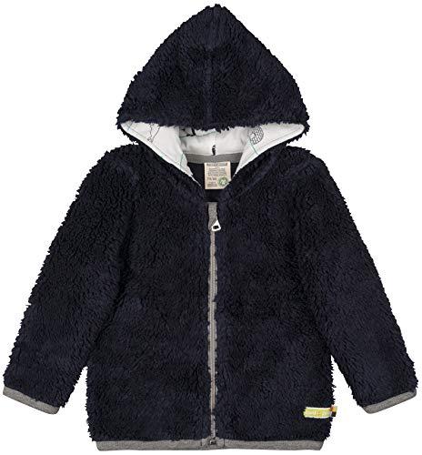 loud + proud Baby-Unisex Plüsch Aus Bio Baumwolle, GOTS Zertifiziert Jacke, Blau (Midnight Mi), 104 (Herstellergröße: 98/104)