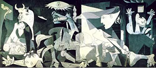 HENGCHENG Wandbilder Kunst Picasso Guernica Berühmte Gemälde Druck Auf Leinwand Kunstdrucke Picasso Kunstwerk Reproduktionen Wandbilder Home Decoration, 30X70Cm Ungerahmt