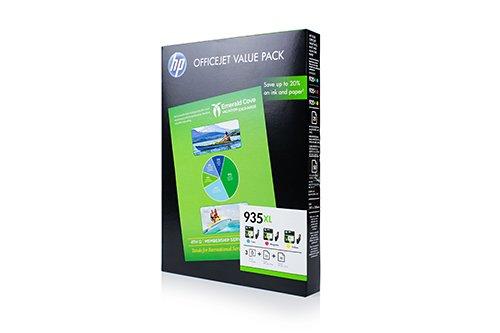 HP F6U78AE / 935XL - Cartuchos de tinta originales para HP OfficeJet Pro 6230 (3 unidades), color cian, magenta y amarillo