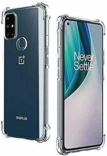 BNBUKLTD Compatible con OnePlus Nord N100 Funda transparente a prueba de golpes y bolígrafo protector de pantalla de cristal