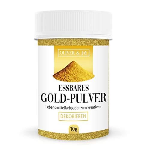 Goldpulver essbar, Lebensmittelfarbpuder zum kreativen Dekorieren, 10g von Oliver&Jay