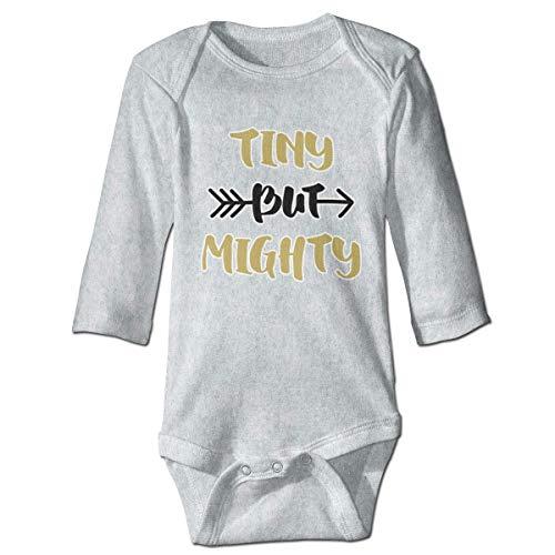 maichengxuan Mameluco Beb Paller Tiny But Mighty Recin Nacido Beb Nio Beb Nias Nios Mameluco Beb Manga Larga 0-24 Months Gray