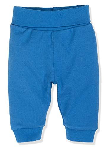 Schnizler Kinder Pump-Hose aus 100% Baumwolle, komfortable und hochwertige Baby-Hose mit elastischem Bauchumschlag, Blau (Blau 7), 74