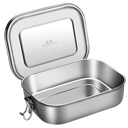 G.a HOMEFAVOR 1200 ML Lunchbox Vesperdose Dichte Brotdose aus Edelstahl, Bento Box