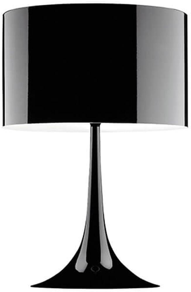 Flos spun light t1 lampada da tavolo nero lucido in alluminio F6610030